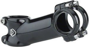 "Dimension 31.8 Stem - 100mm, 31.8 Clamp, +/-17, 1 1/8"", Alloy, Black"