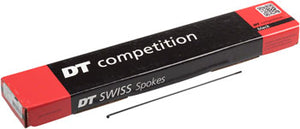 DT Swiss Competition Spoke: 2.0/1.8/2.0mm, 293mm, J-bend, Black, Box of 100