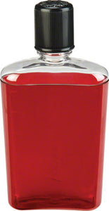 Nalgene Flask: 12oz, Red with Black Cap