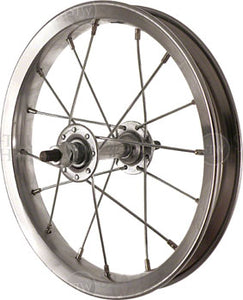"Sta-Tru Single Wall Front Wheel - 12"", 5/16"" x 85mm, Rim Brake, Silver, Clincher"