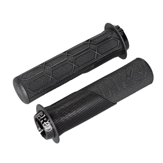 LOCK-ON TRAIL GRIPS BLACK WITHOUT FLANGE 32MM / 132MM