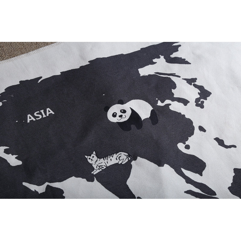 World map tapestry floor mat threadbin world map tapestry floor mat gumiabroncs Choice Image