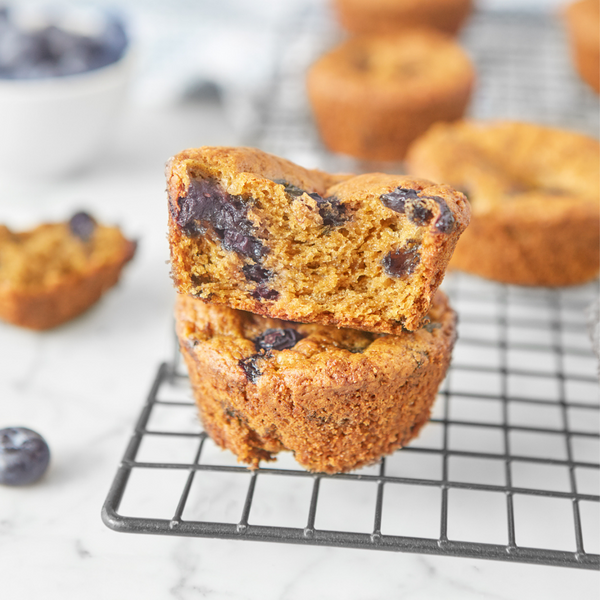 Protein Blueberry Muffins (Plant-Based & GF)