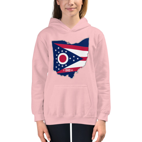 Girl's Hoodie - Ohio - State Flag