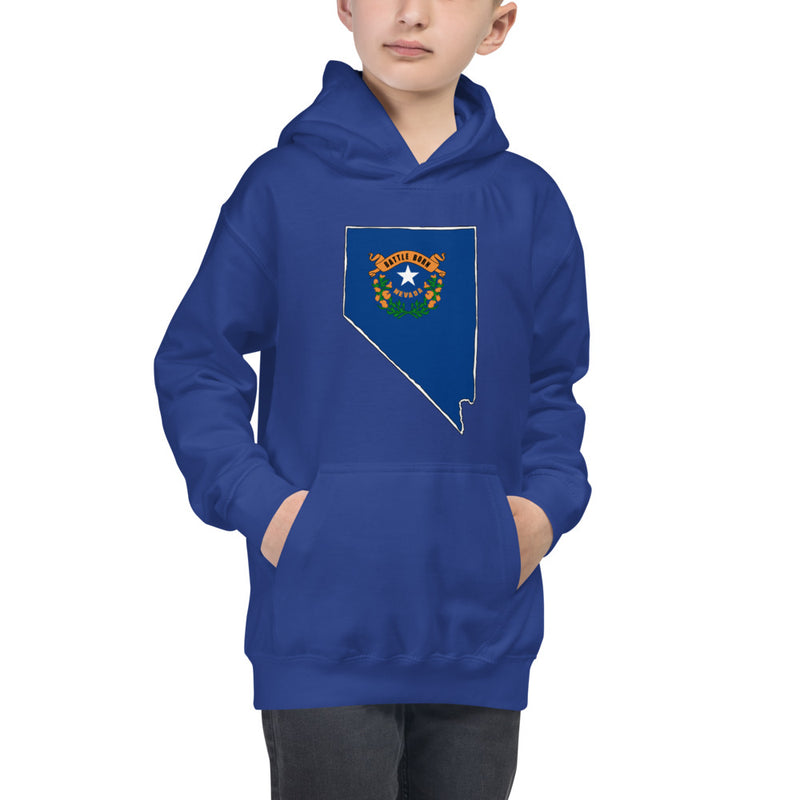 Boy's Hoodie - Nevada - State Flag