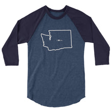 3/4 sleeve Washington raglan shirt