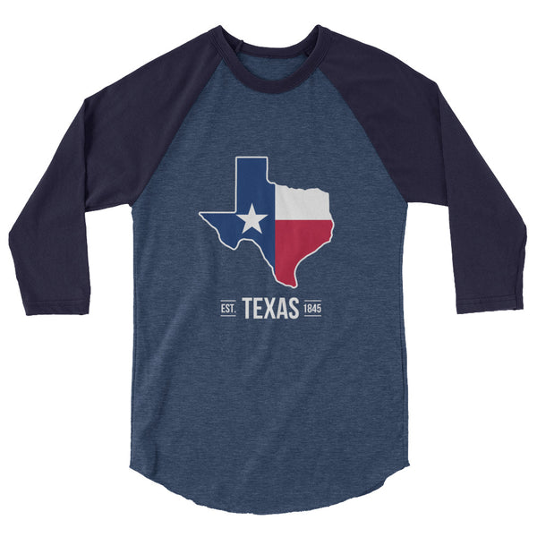 3/4 Sleeve Texas Flag Raglan Shirt