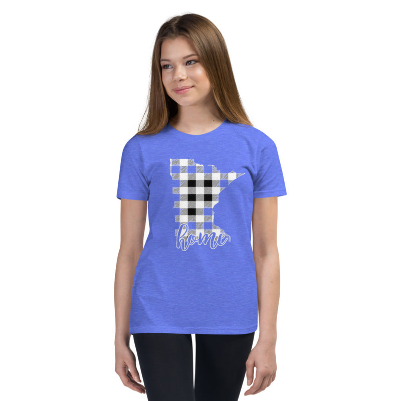 Youth Short Sleeve T-Shirt - Minnesota - Tartan Plaid