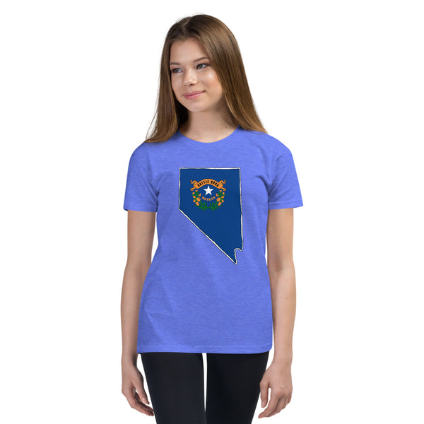 Girl's T-Shirt - Nevada - State Flag
