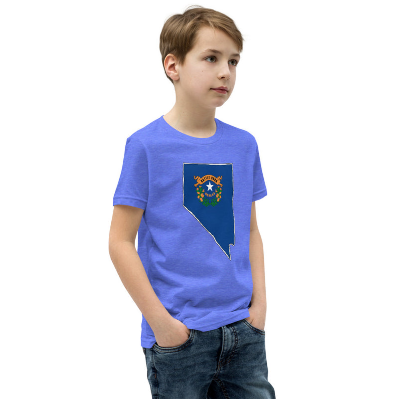 Boy's T-Shirt - Nevada - State Flag