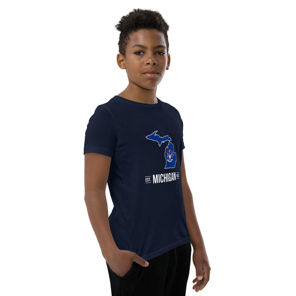 Boy's T-Shirt - Michigan - State Flag
