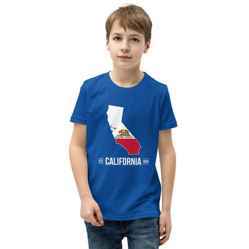 Youth Short Sleeve T-Shirt - California State Flag
