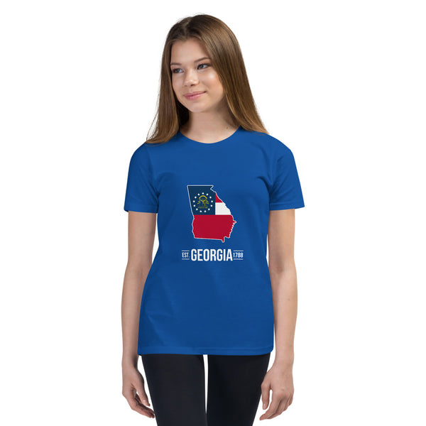 Girl's T-Shirt - Georgia - State Flag