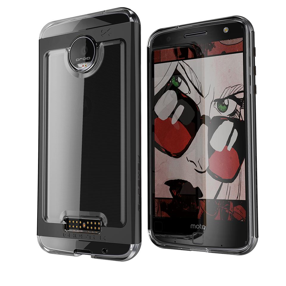 Motorola Moto Z Force Case, Ghostek Cloak 2.0 Black Series w/ Screen Protector | Aluminum Frame