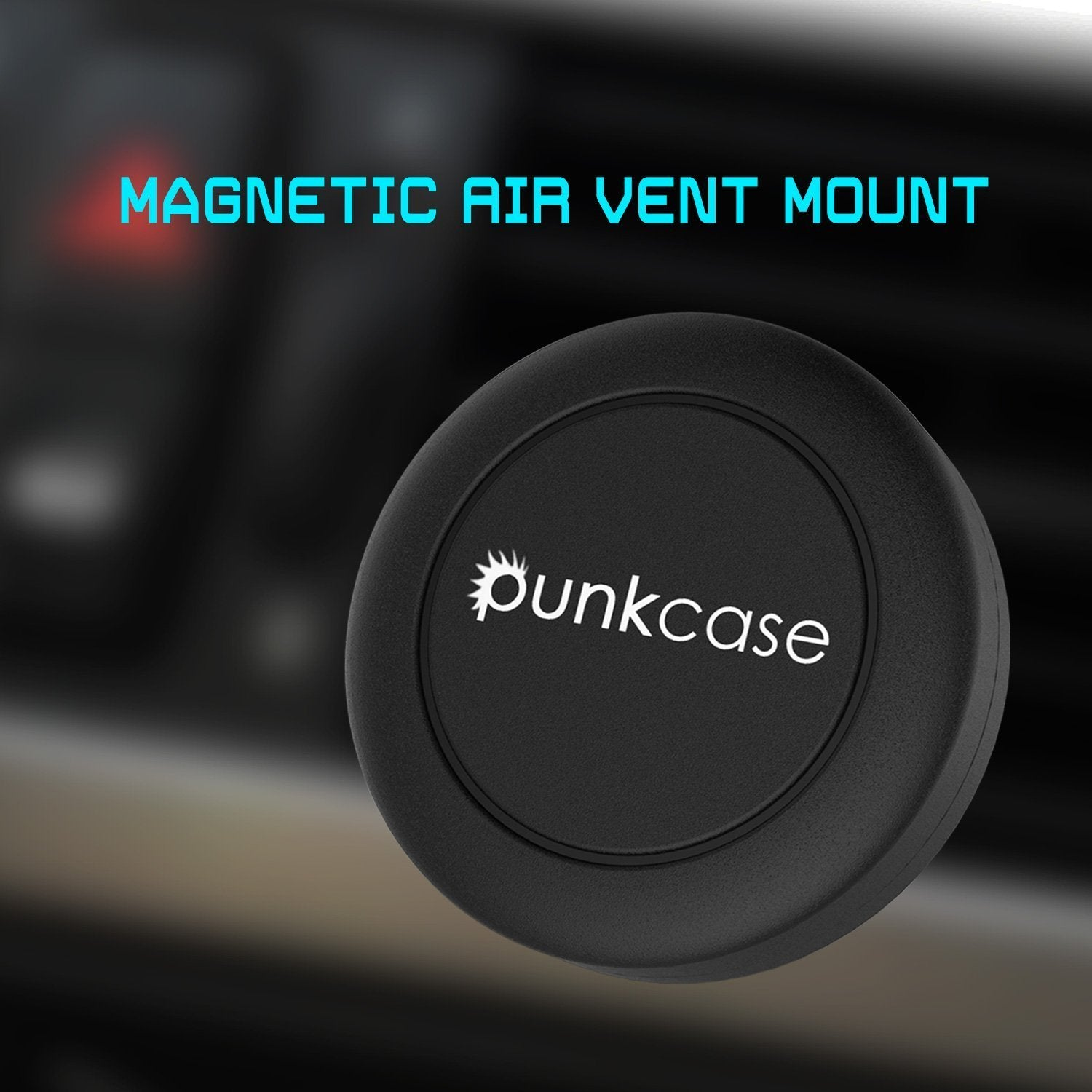 Punkcase Force 2 Magnetic Air Vent Mount, Universal Car Cellphone Holder for all Smartphones, Suitable for Horizontal & Vertical Vents, Strong & Safe to use Magnets (BLACK) - PunkCase NZ