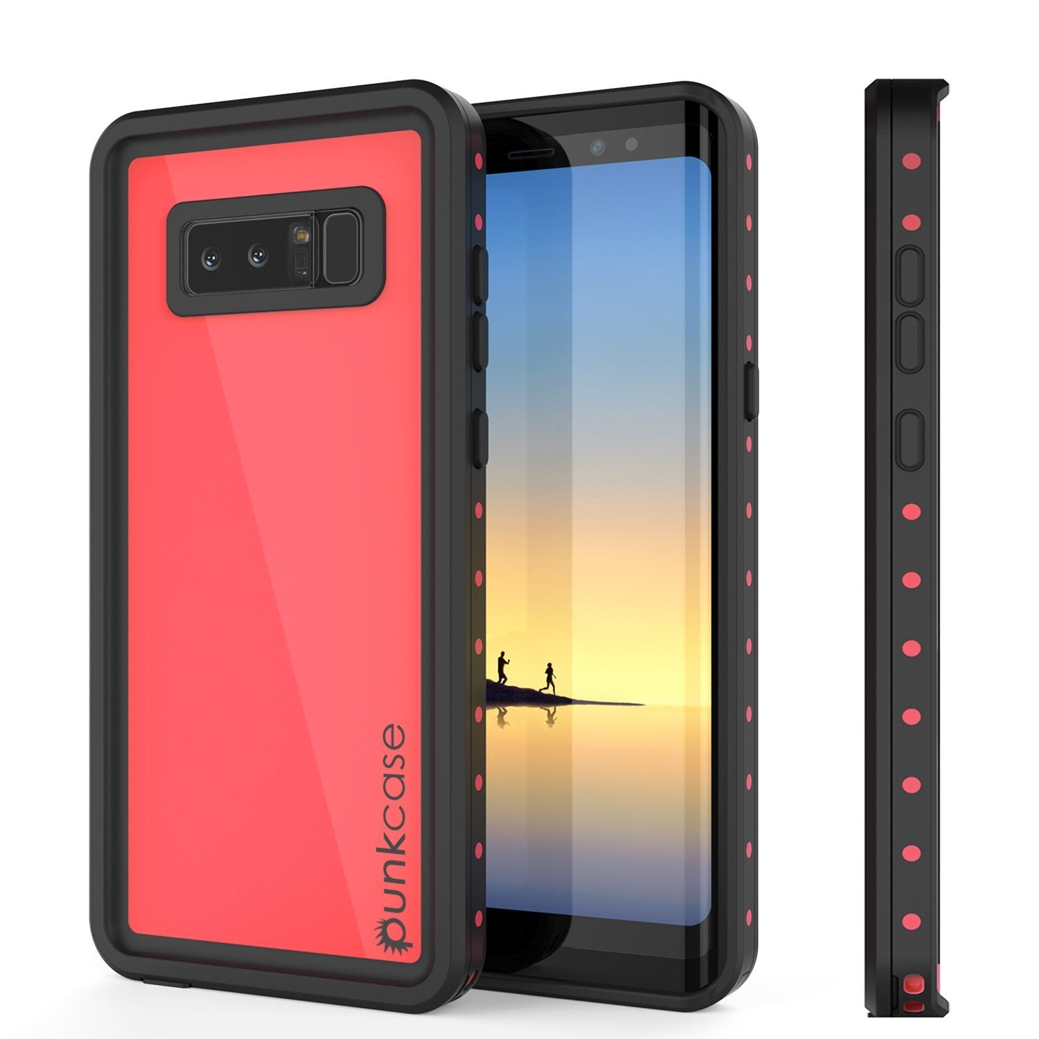 Galaxy Note 8 Waterproof Case PunkCase StudStar Pink Thin 6.6ft Underwater IP68 Shock/Snow Proof