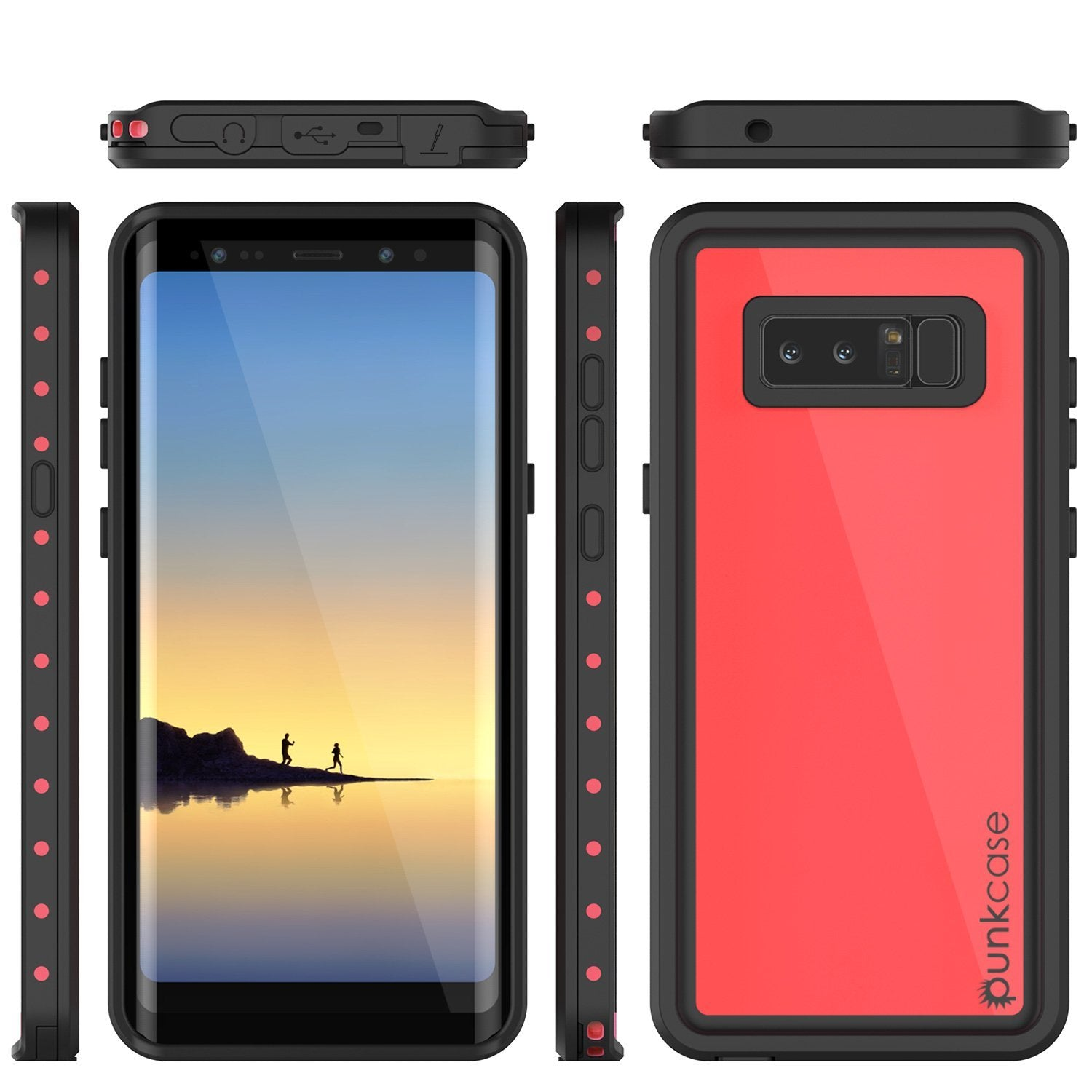 Galaxy Note 8 Waterproof Case PunkCase StudStar Pink Thin 6.6ft Underwater IP68 Shock/Snow Proof - PunkCase NZ
