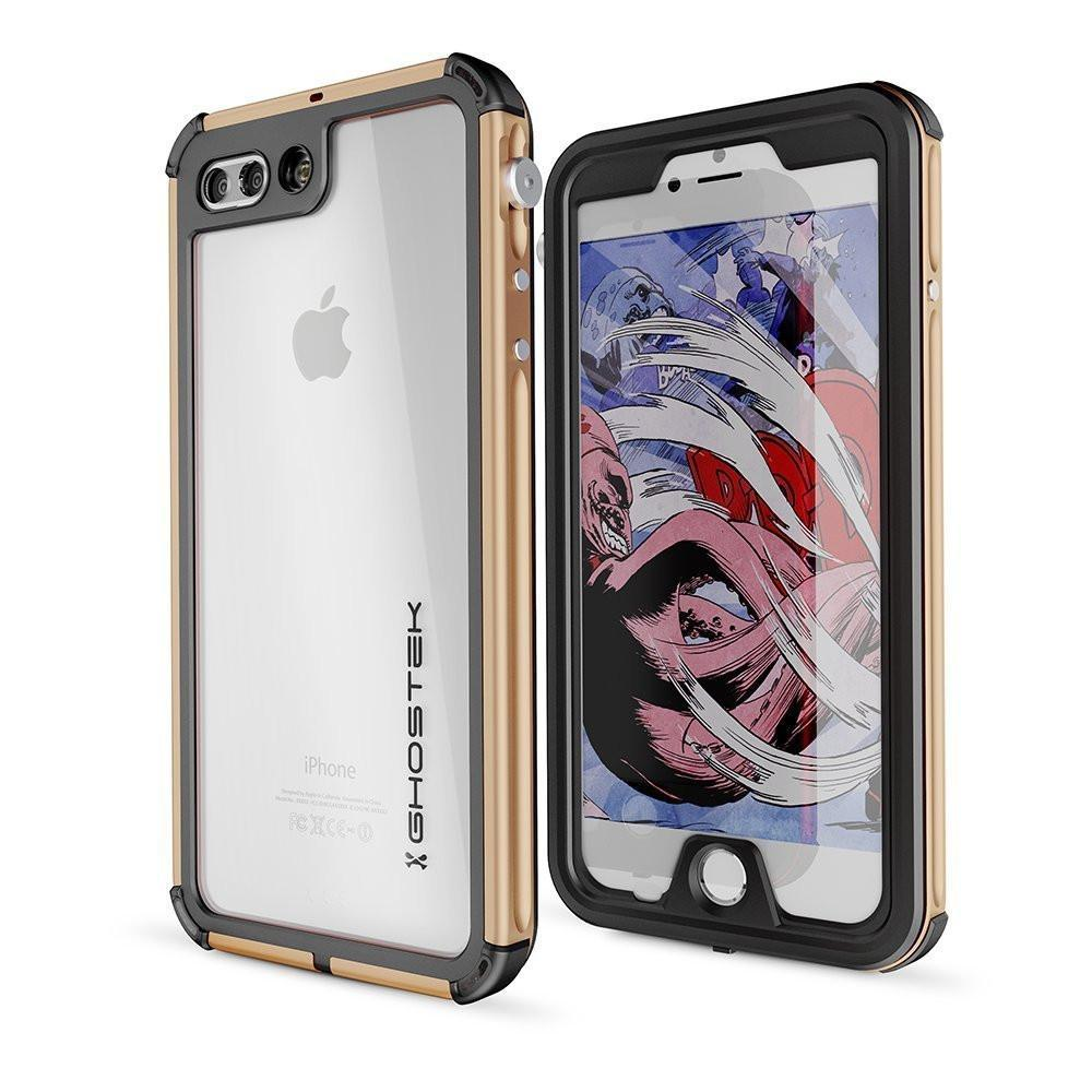 iPhone 8+ Plus Waterproof Case, Ghostek® Atomic 3.0 Gold Series - PunkCase NZ