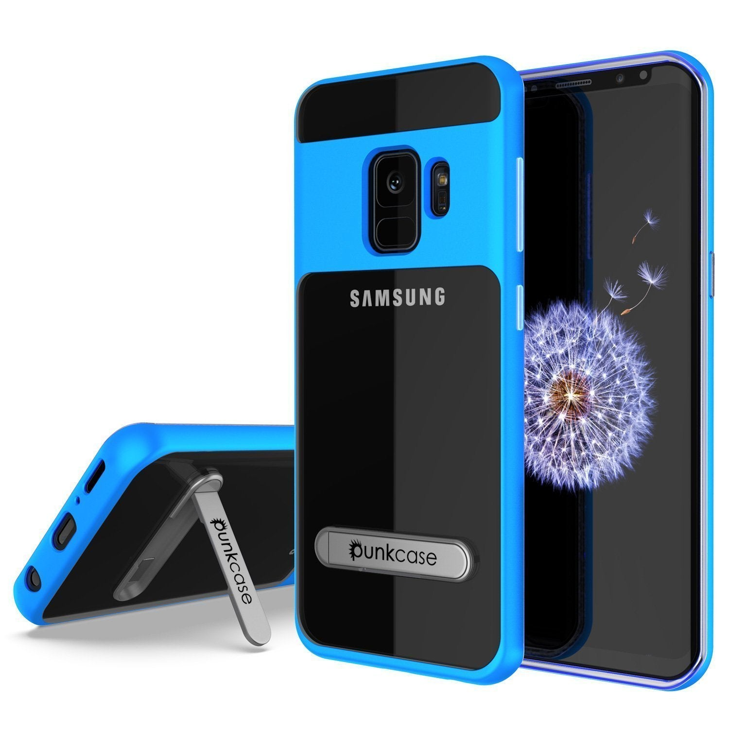Galaxy S10 Case, PUNKcase [LUCID 3.0 Series] [Slim Fit] Armor Cover w/ Integrated Screen Protector [Blue]