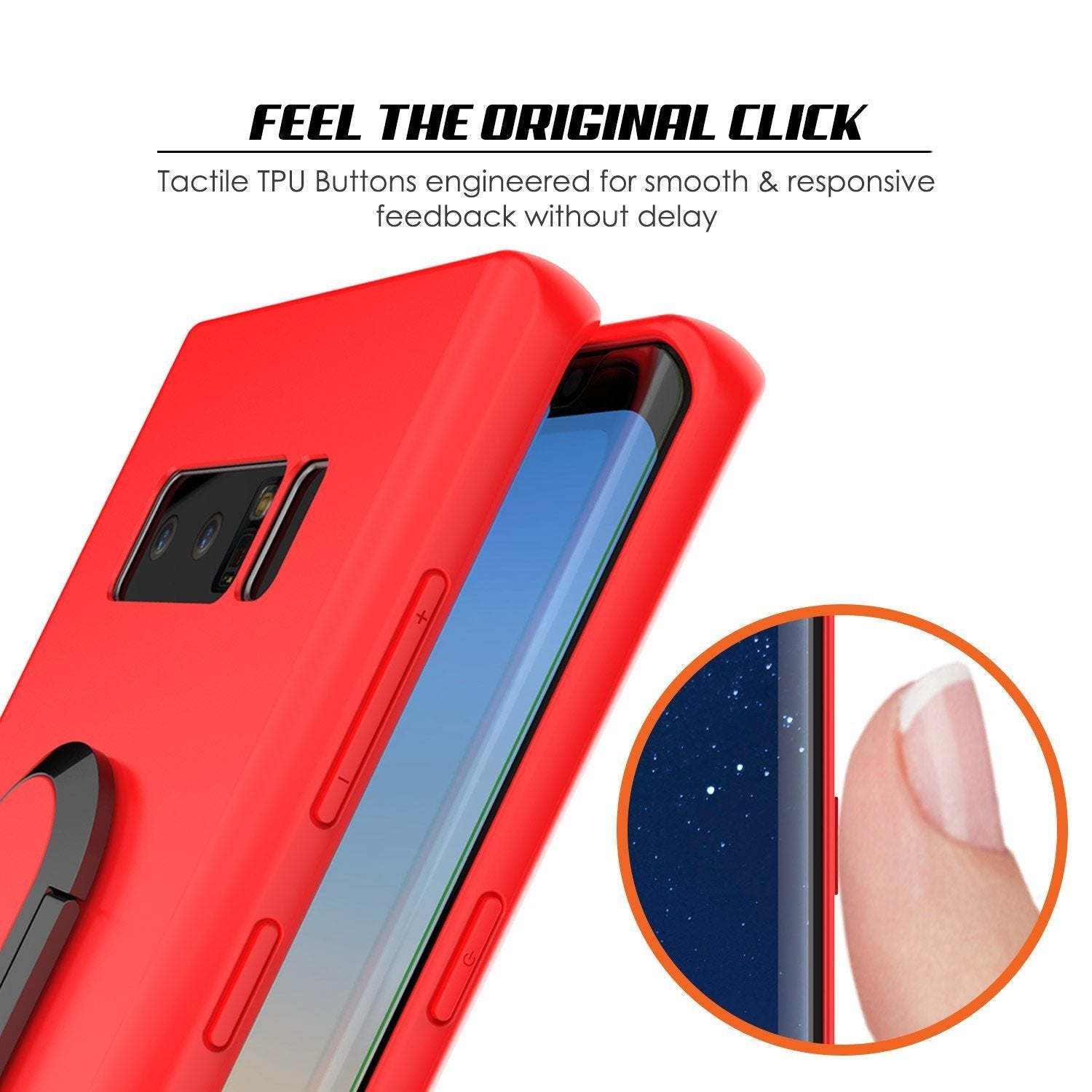 Galaxy Note 8 Case, Punkcase Magnetix Protective TPU Cover W/ Kickstand, Screen Protector [Red] - PunkCase NZ
