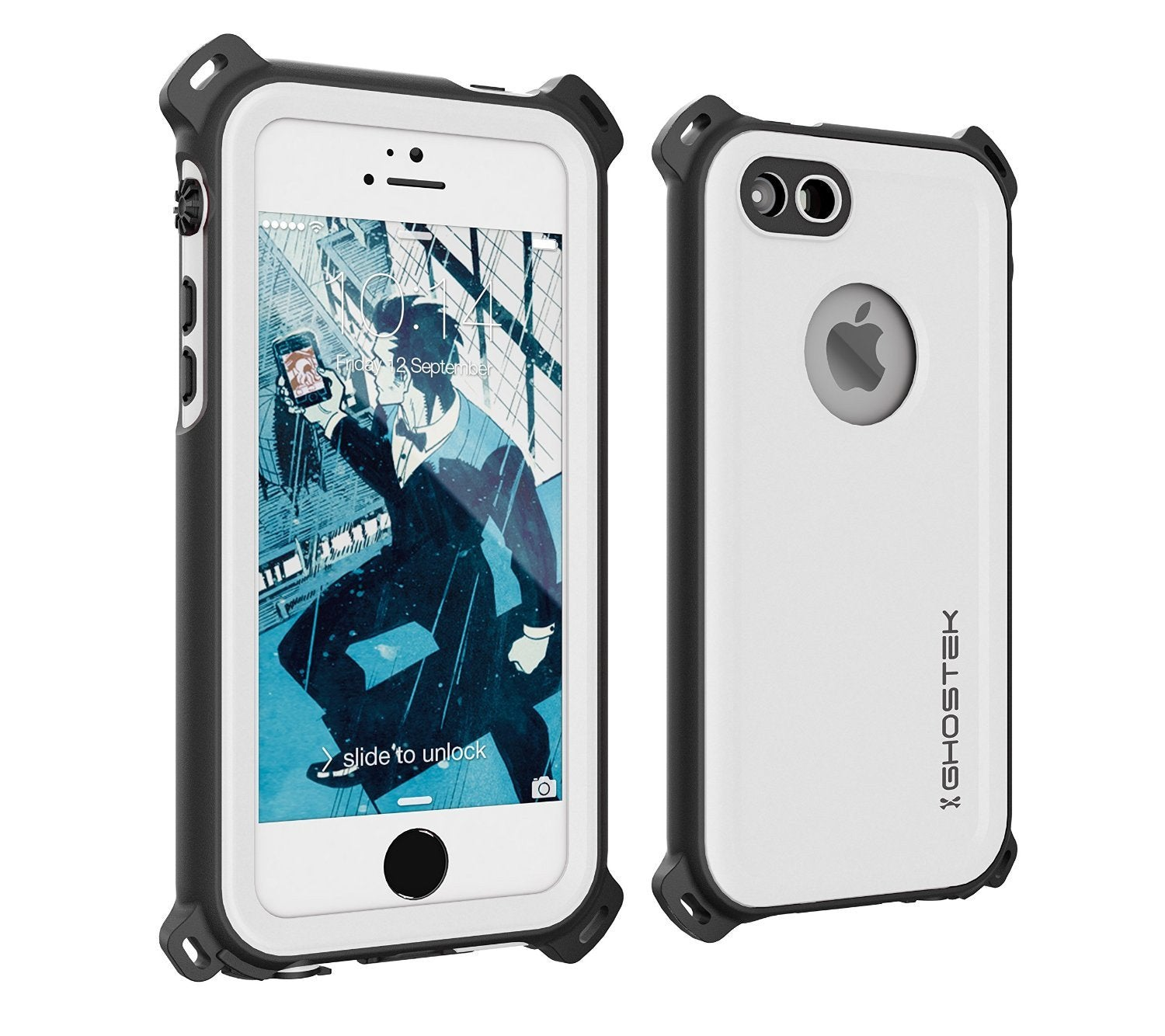 iPhone SE/5S/5 Waterproof Case, Ghostek® Nautical White Series| Underwater | Aluminum Frame - PunkCase NZ