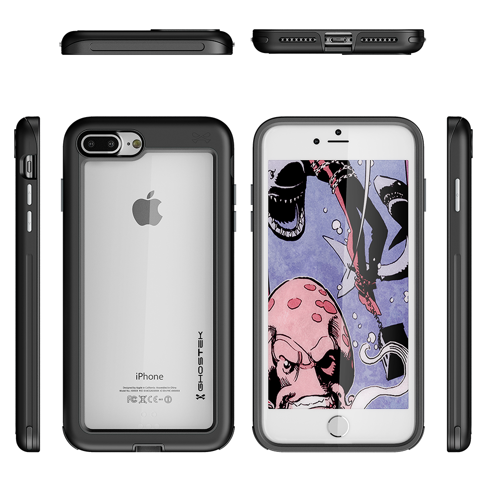 iPhone 8+ Plus Case, Ghostek®  Atomic Slim Series  for iPhone 8+ Plus Rugged Heavy Duty Case[BLACK] - PunkCase NZ