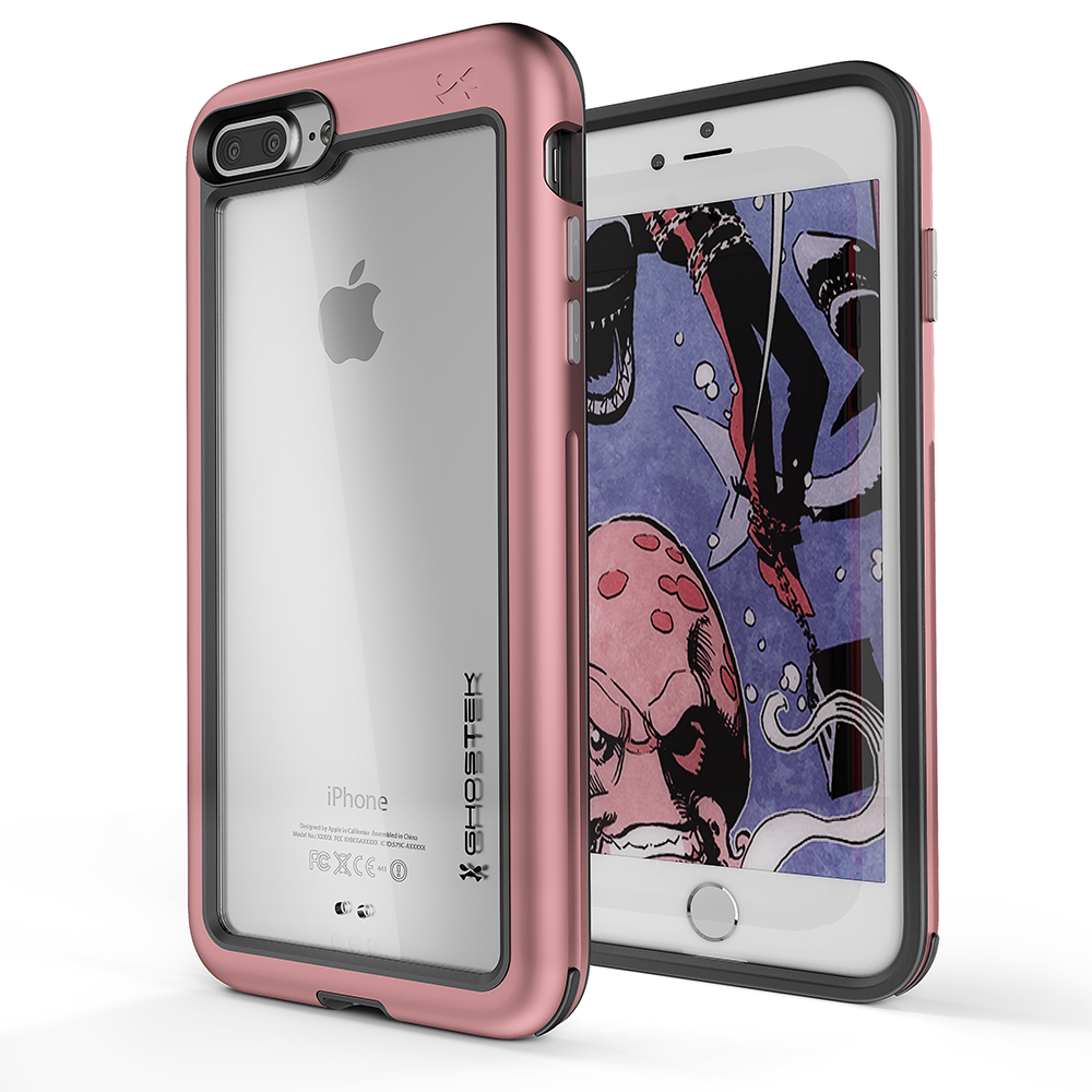 iPhone 7+ Plus Case, Ghostek® Atomic Slim Series  for  iPhone 7+ Plus Rugged Heavy Duty Case[PINK] - PunkCase NZ