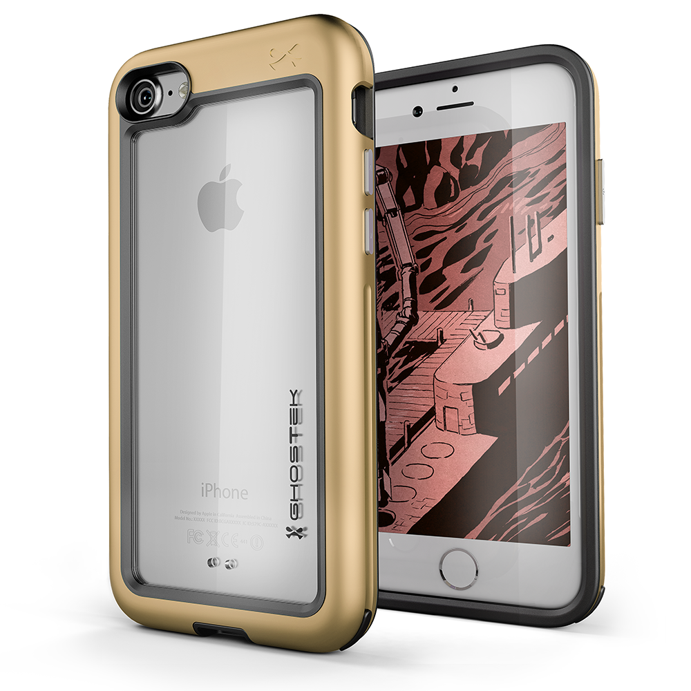 iPhone 8 Case, Ghostek®  Atomic Slim Series  for iPhone 8 Rugged Heavy Duty Case [GOLD] - PunkCase NZ