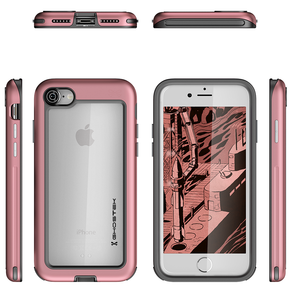 iPhone 8 Case, Ghostek®  Atomic Slim Series  for  iPhone 8 Rugged Heavy Duty Case [PINK] - PunkCase NZ