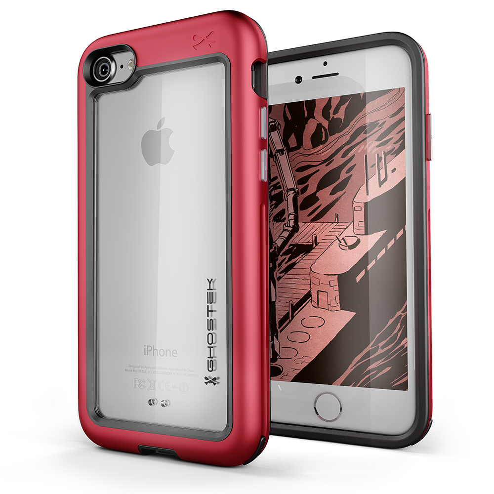 iPhone 8 Case, Ghostek®  Atomic Slim Series  for iPhone 8 Rugged Heavy Duty Case [RED] - PunkCase NZ