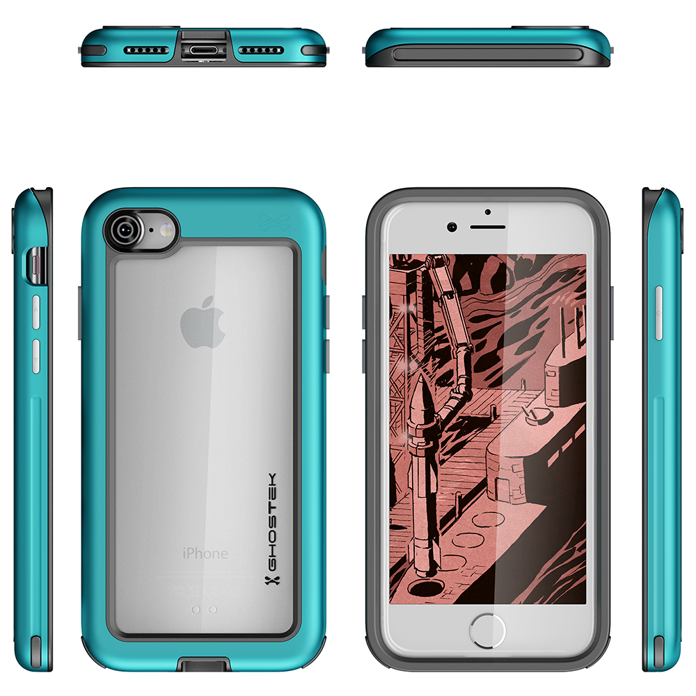 iPhone 7 Case, Ghostek®  Atomic Slim Series  for  iPhone 7 Rugged Heavy Duty Case [TEAL] - PunkCase NZ