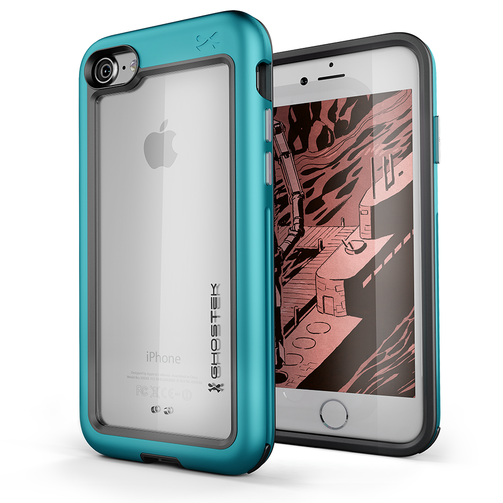 iPhone 8 Case, Ghostek®  Atomic Slim Series  for  iPhone 8 Rugged Heavy Duty Case [TEAL] - PunkCase NZ