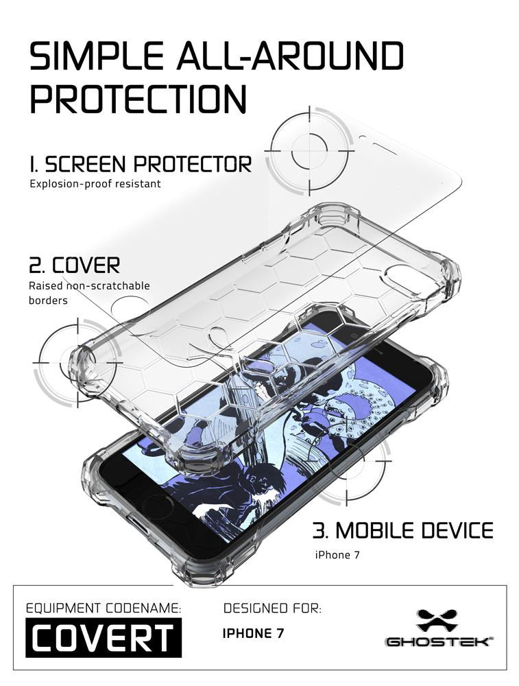 iPhone 7 Case, Ghostek® Covert Clear, Premium Impact Protective Armor | Lifetime Warranty Exchange - PunkCase NZ