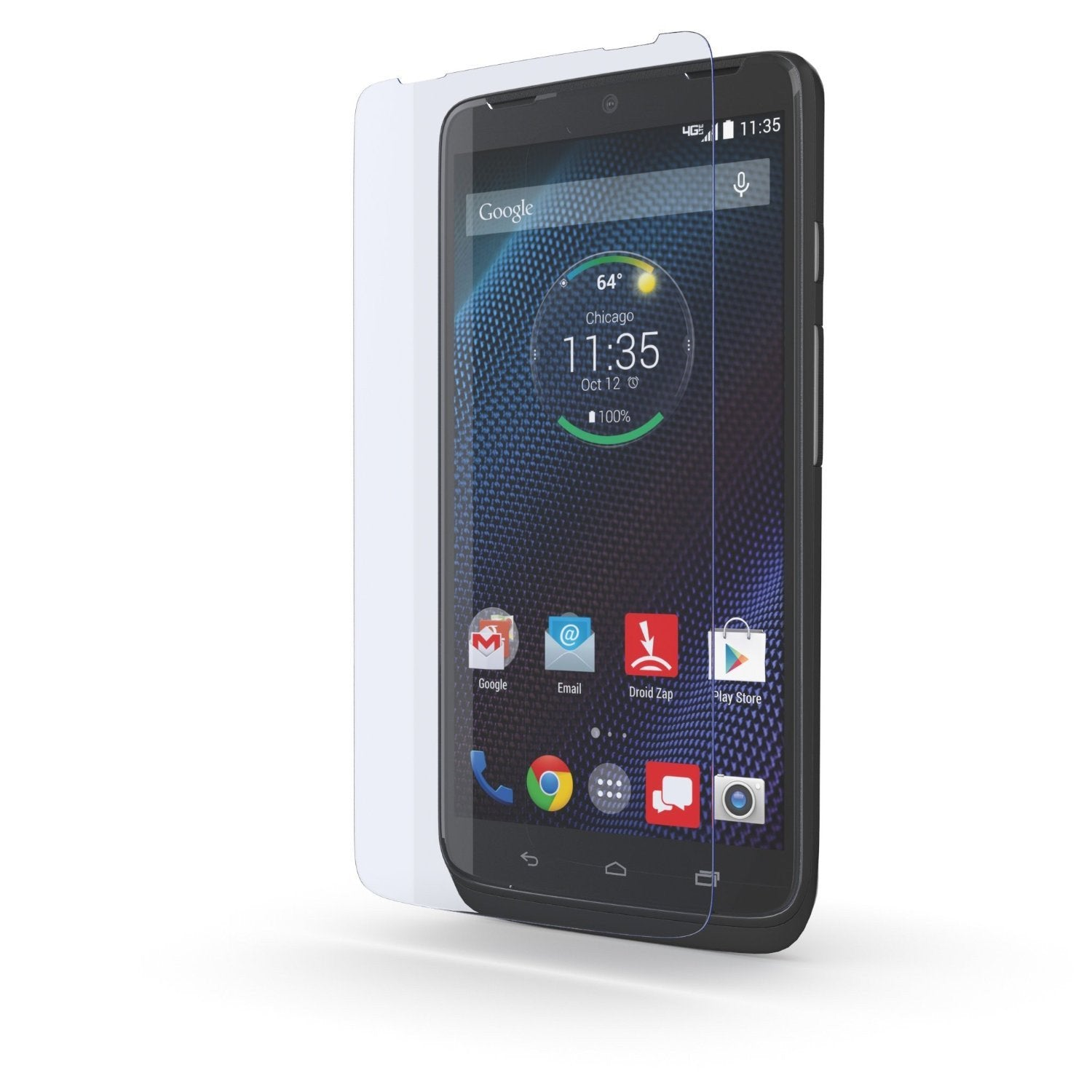 Motorola DROID TURBO Screen Protector, Ghostek Glass Armor Tempered Glass Protector 0.33mm Thick 9H - PunkCase NZ