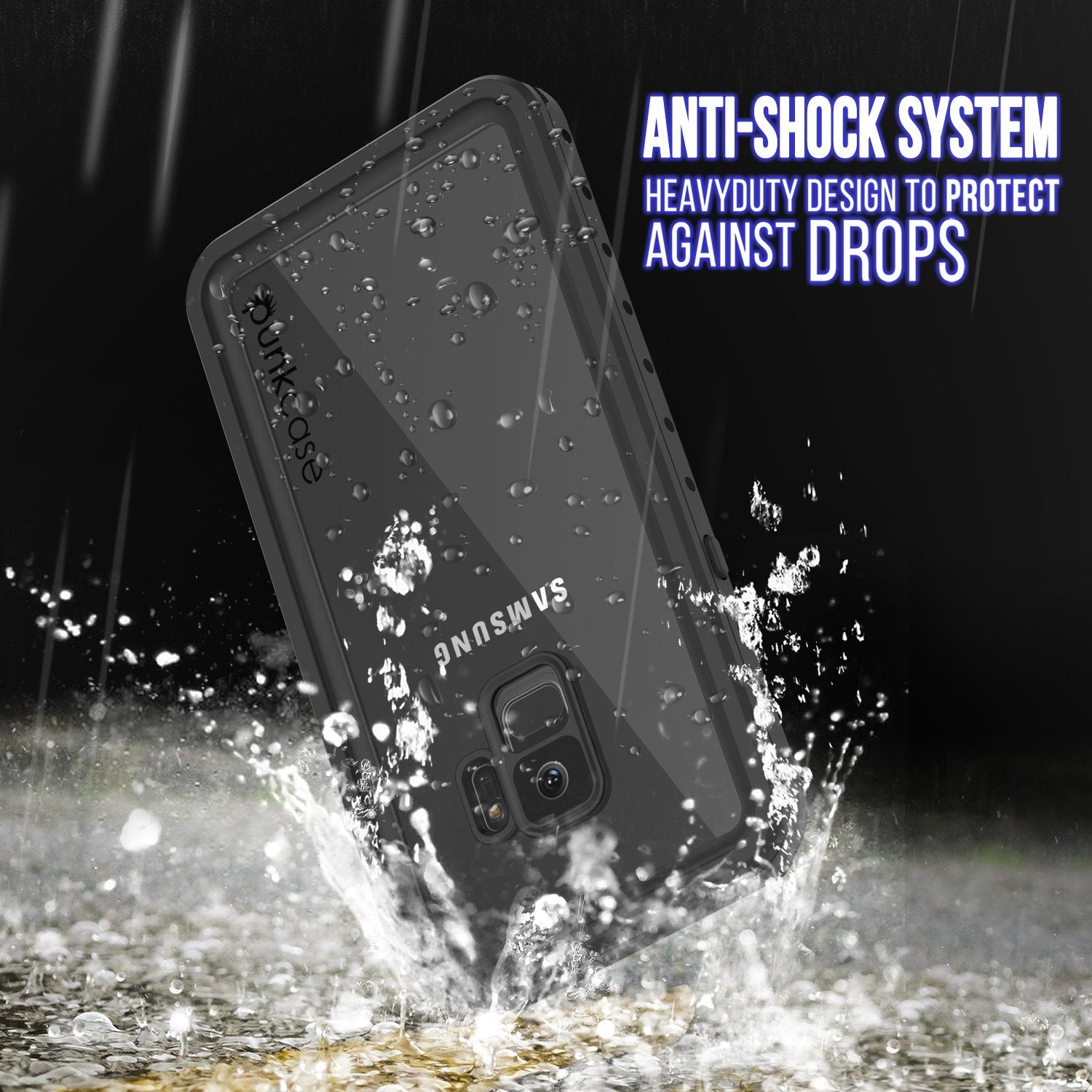 Galaxy S9 Waterproof Case, Punkcase [StudStar Series] [Slim Fit] [IP68 Certified] [Shockproof] [Dirtproof] [Snowproof] Armor Cover [Clear] - PunkCase NZ