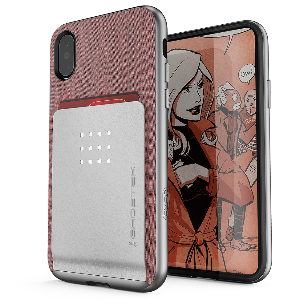 iPhone X Case, Ghostek Exec 2 Series for iPhone X / iPhone Pro Protective Wallet Case [PINK] - PunkCase NZ