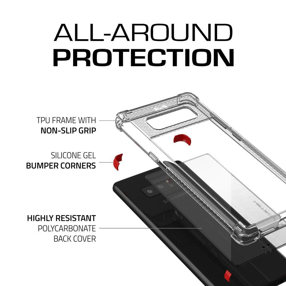 Galaxy Note 8 Case, Ghostek Covert 2 Series for Galaxy Note 8 Protective Case  [RED] - PunkCase NZ