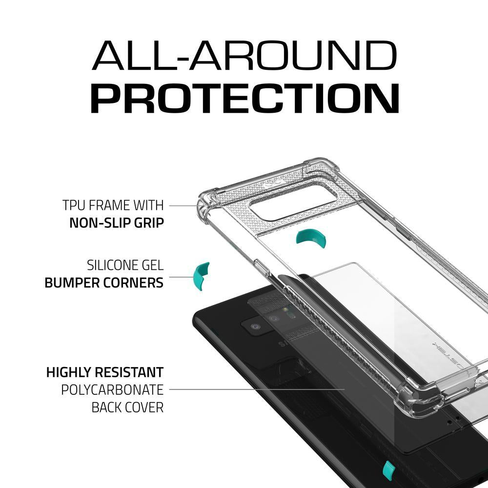 Galaxy Note 8 Case, Ghostek Covert 2 Series for Galaxy Note 8 Protective Case  [ TEAL] - PunkCase NZ