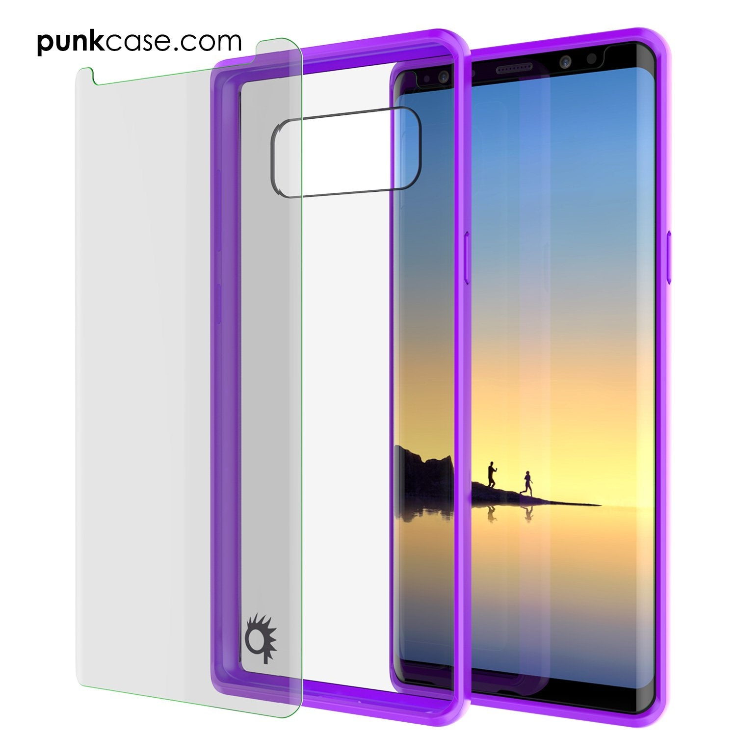 Galaxy Note 8 Case, PUNKcase [LUCID 2.0 Series] [Slim Fit] Armor Cover w/Integrated Anti-Shock System & PUNKSHIELD Screen Protector [Purple] - PunkCase NZ