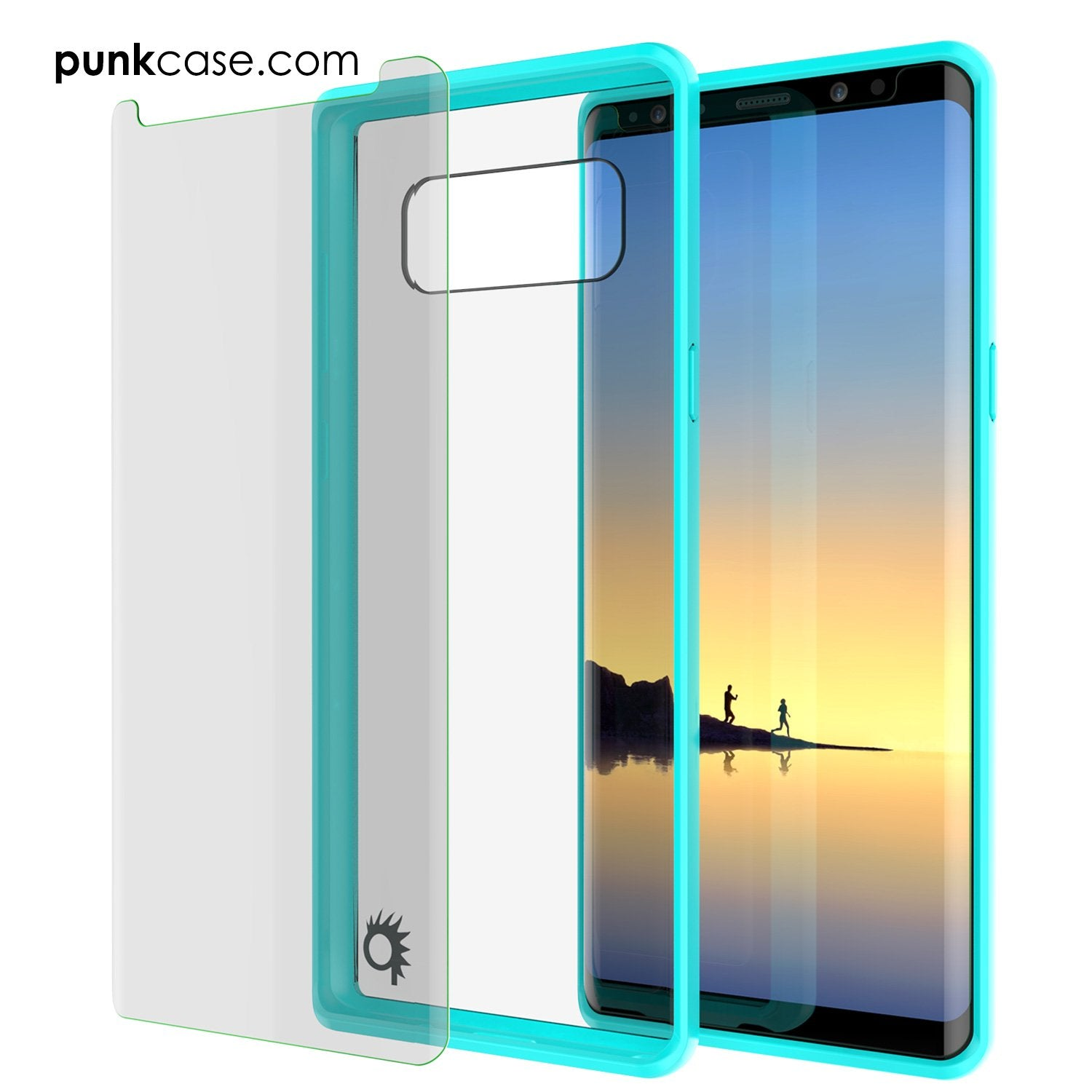 Galaxy Note 8 Case, PUNKcase [LUCID 2.0 Series] [Slim Fit] Armor Cover w/Integrated Anti-Shock System & PUNKSHIELD Screen Protector [Teal] - PunkCase NZ