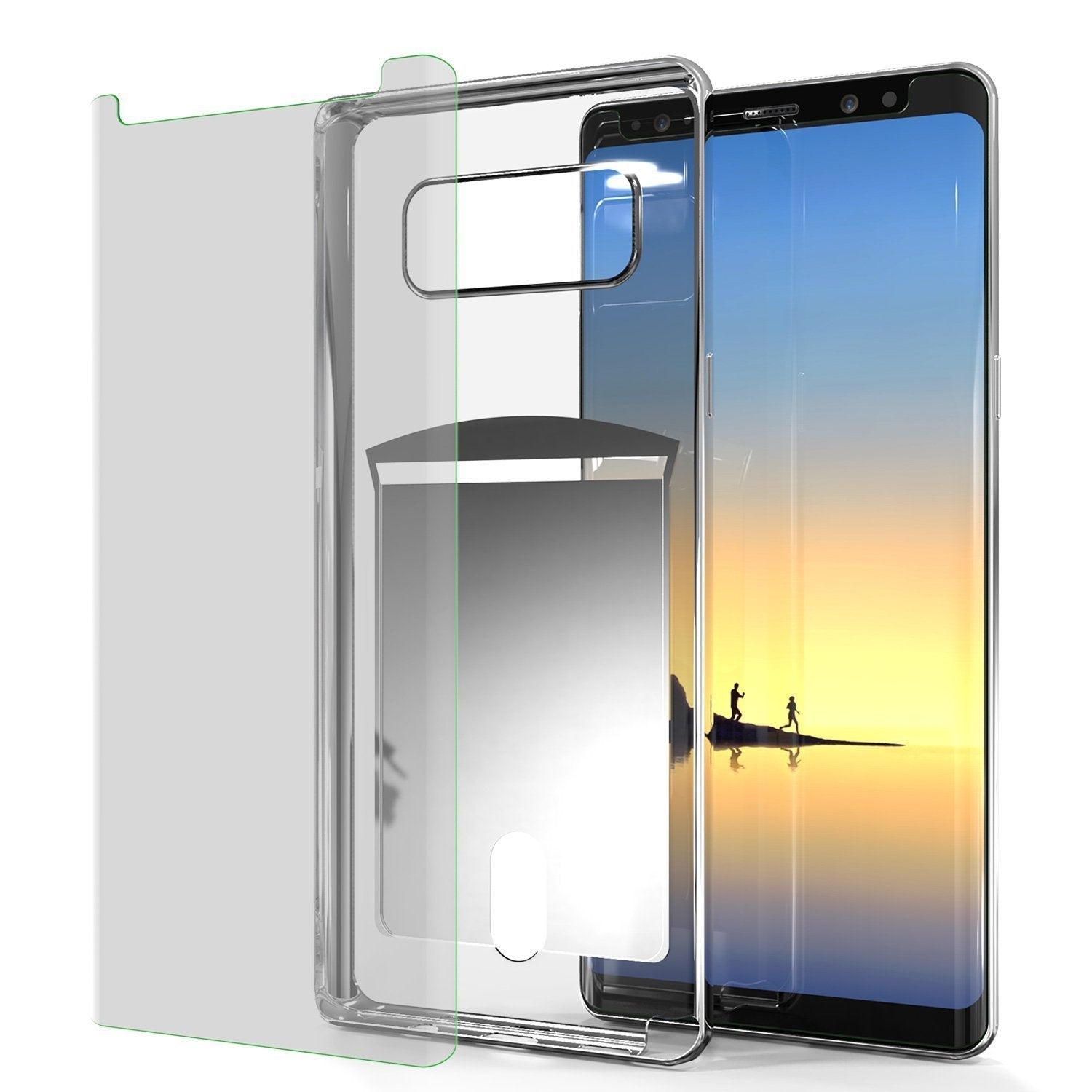 Galaxy Note 8 Case, PUNKCASE® LUCID Silver Series | Card Slot | SHIELD Screen Protector | Ultra fit - PunkCase NZ