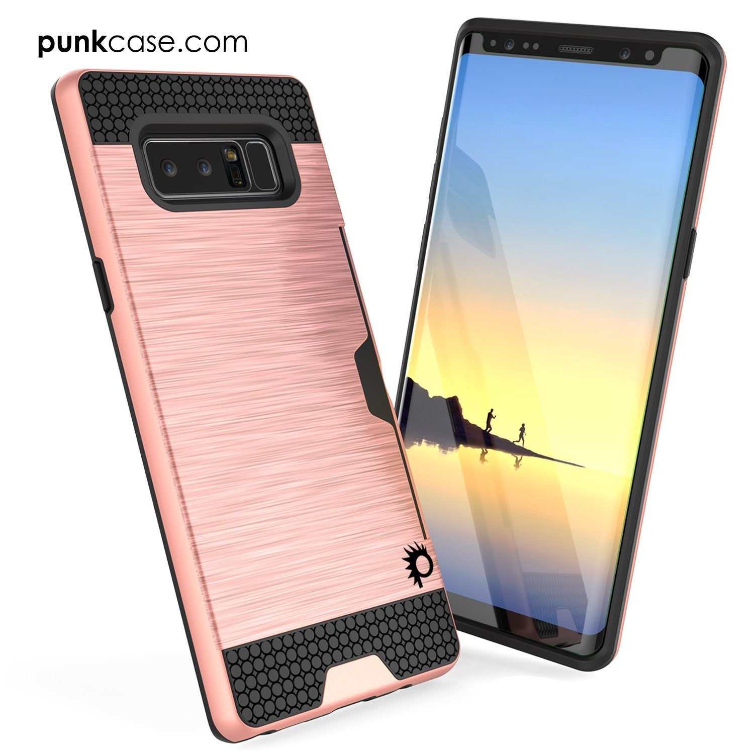 Galaxy Note 8 Case, PUNKcase [SLOT Series] Slim Fit with Screen Protector for Samsung Note 8 [Rose] - PunkCase NZ