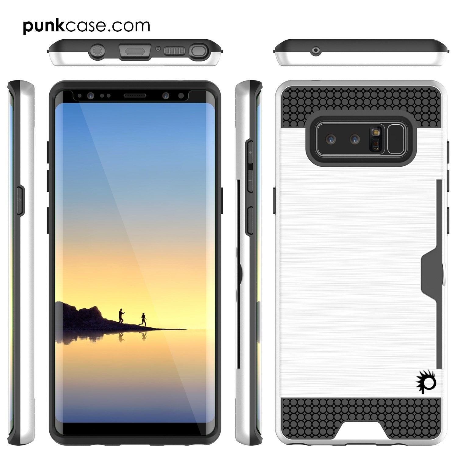Galaxy Note 8 Case, PUNKcase [SLOT Series] Slim Fit with Screen Protector for Samsung Note 8 [White] - PunkCase NZ