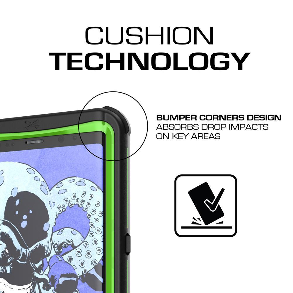 Galaxy Note 8, Ghostek Nautical Series  for Galaxy Note 8 Rugged Waterproof Case | GREEN - PunkCase NZ