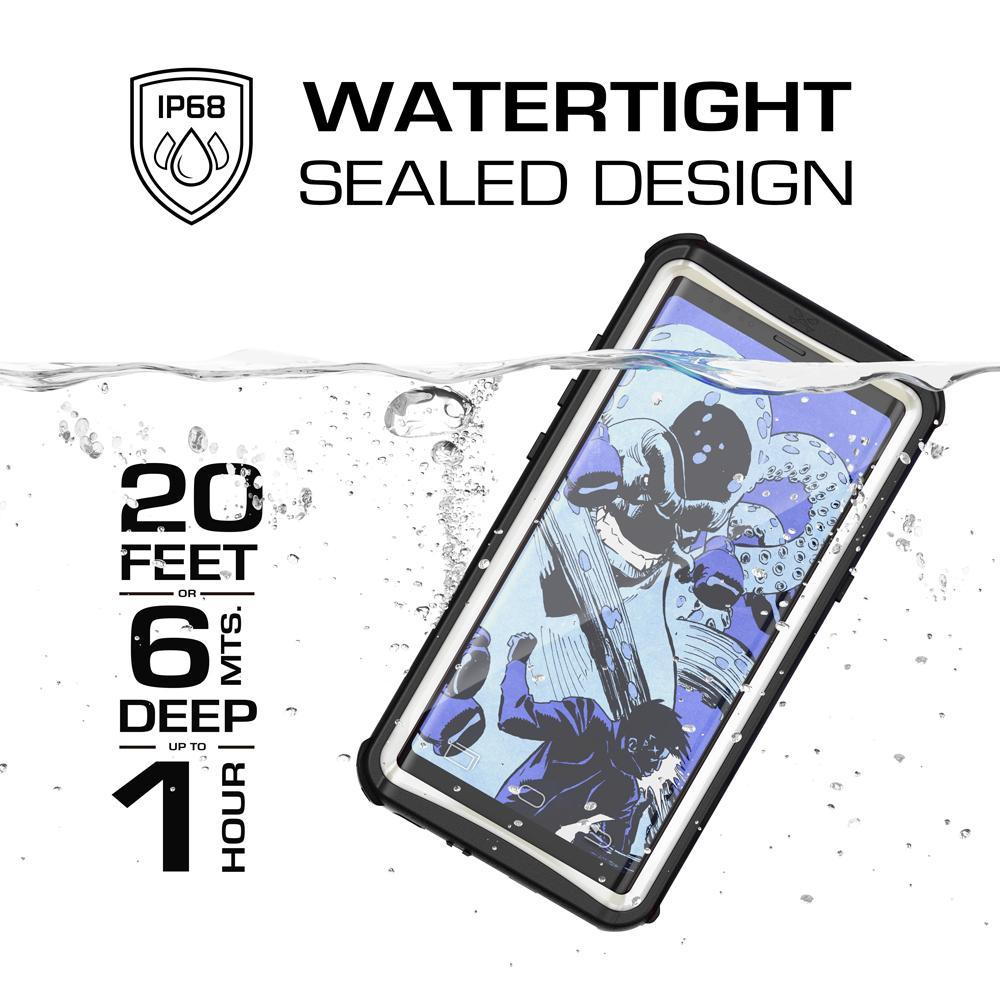 Galaxy Note 8, Ghostek Nautical Series  for Galaxy Note 8 Rugged Waterproof Case | WHITE - PunkCase NZ