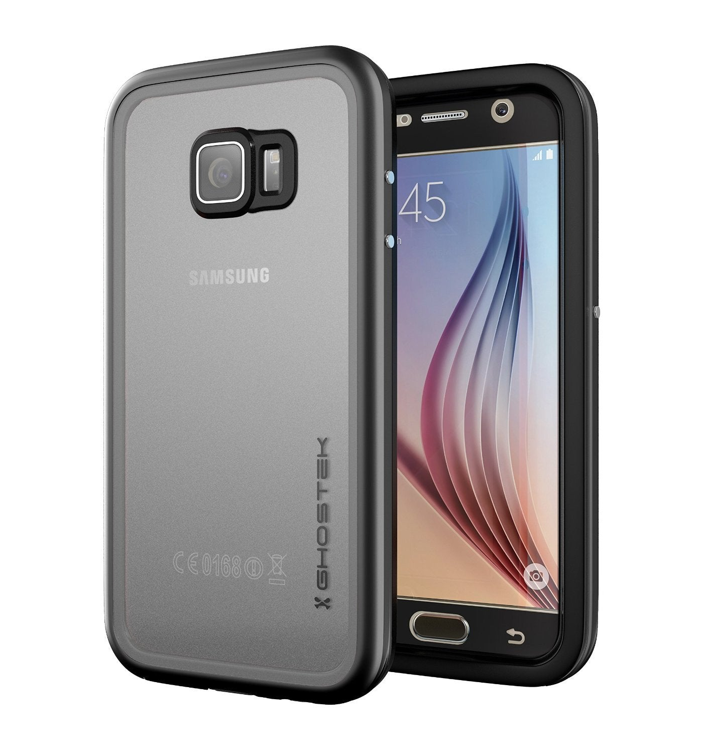 Galaxy S6 Waterproof Case, Ghostek Atomic 2.0 Black  Water/Shock/Dirt/Snow Proof | Lifetime Warranty