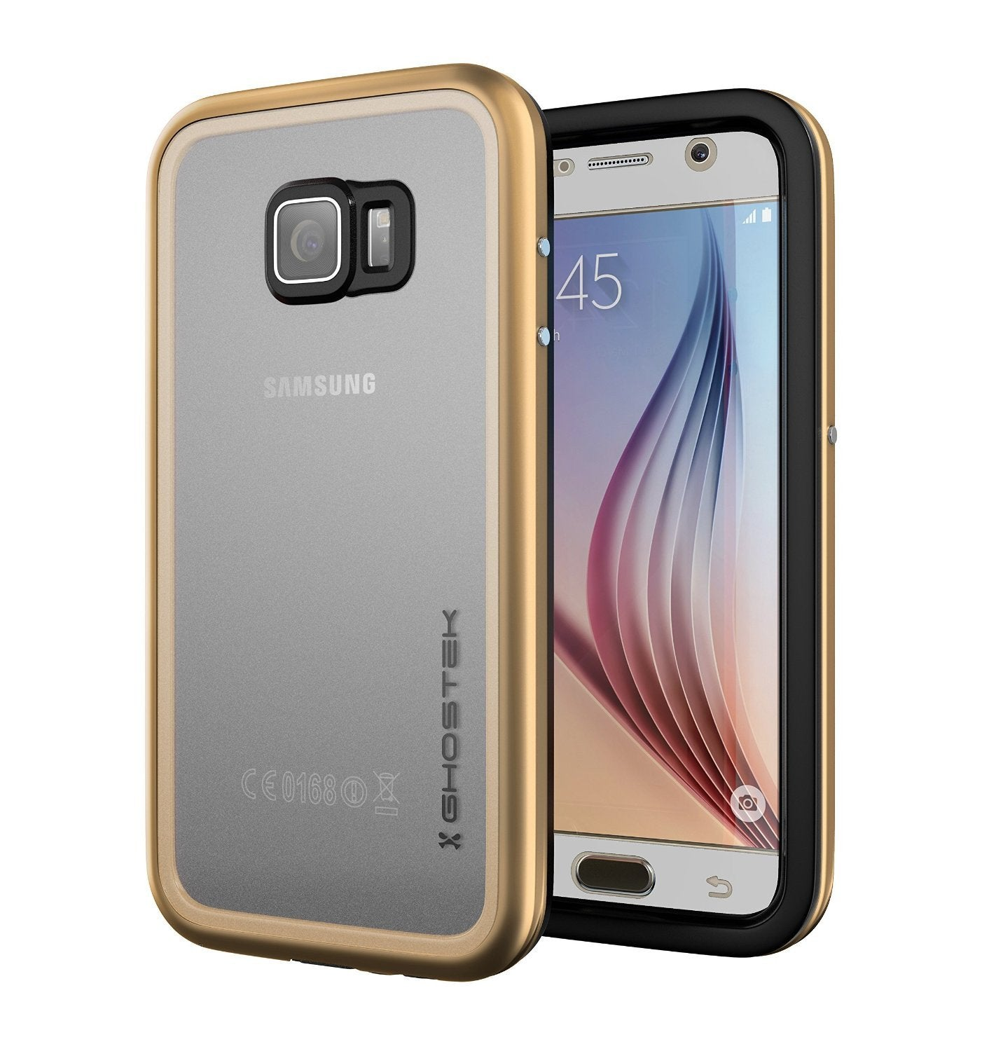 Galaxy S6 Waterproof Case, Ghostek Atomic 2.0 Gold  Water/Shock/Dirt/Snow Proof | Lifetime Warranty