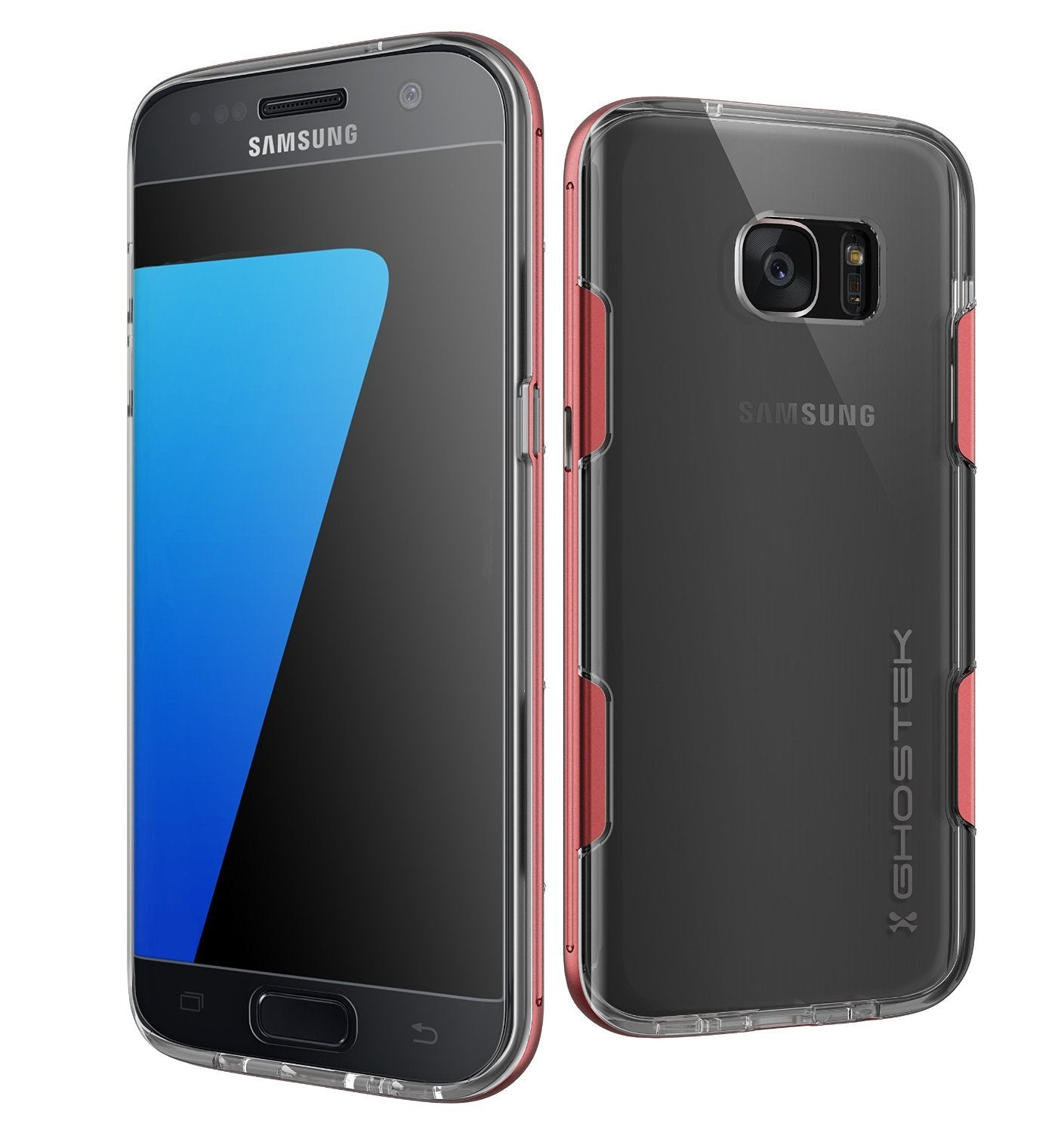 S7 Edge Case Ghostek® Cloak Red Series Slim | Aluminum Frame Lifetime Warranty Exchange - PunkCase NZ