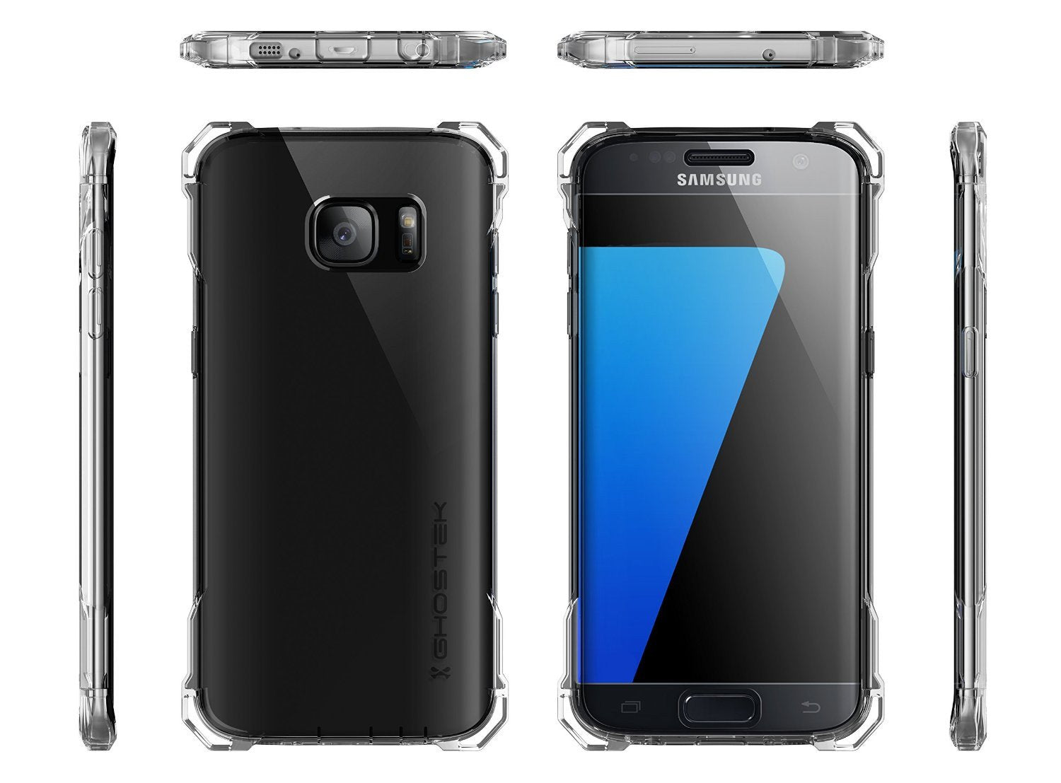 S7 Edge Case, Ghostek® Covert Clear Premium Impact Cover w/ Screen Protector | Lifetime Warranty - PunkCase NZ