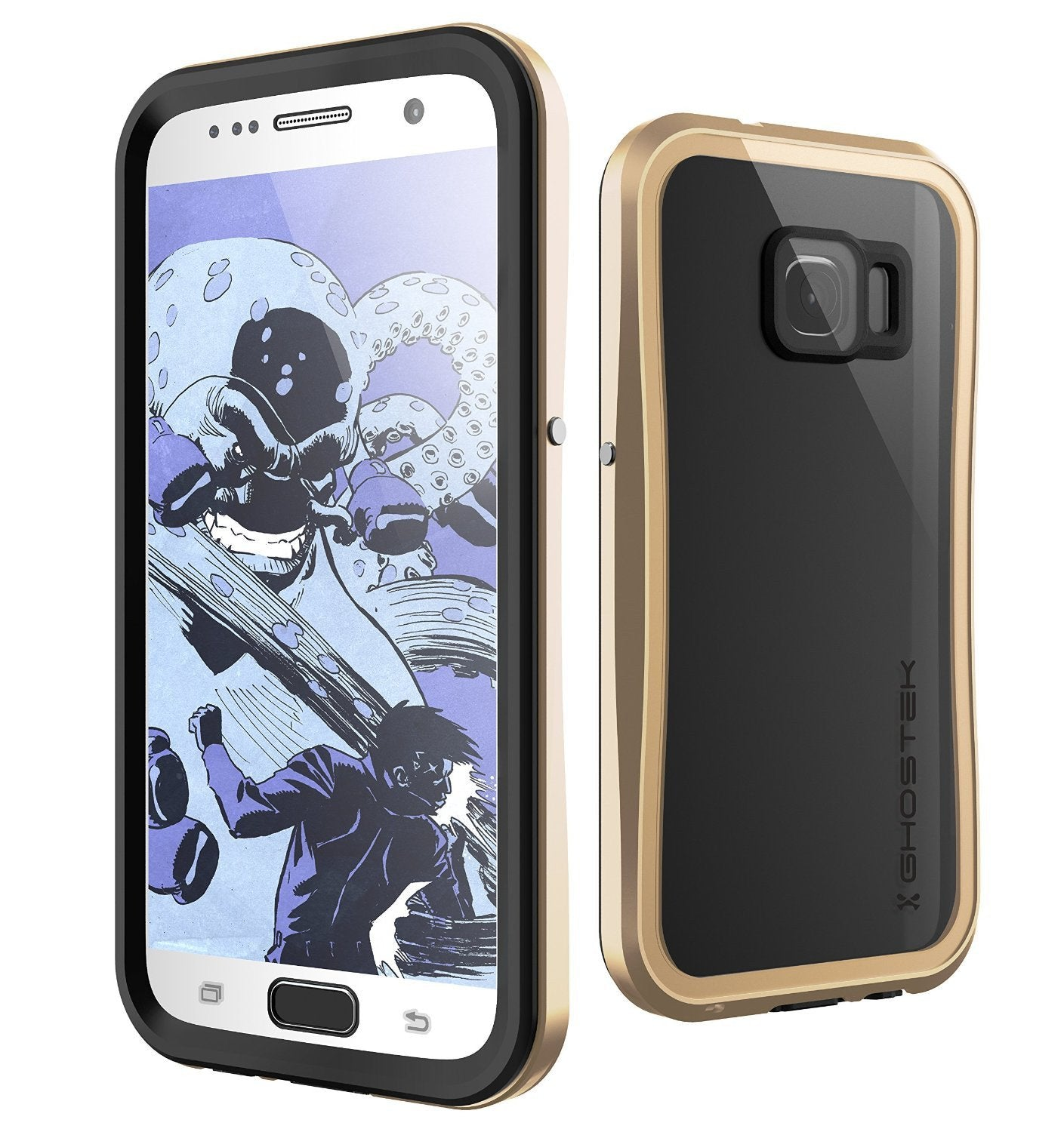 Galaxy S7 Waterproof Case, Ghostek Atomic 2.0 Gold  Water/Shock/Dirt/Snow Proof | Lifetime Warranty - PunkCase NZ